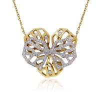 Cartier Caresse D'orchidees 18K Two Tone Gold Necklace