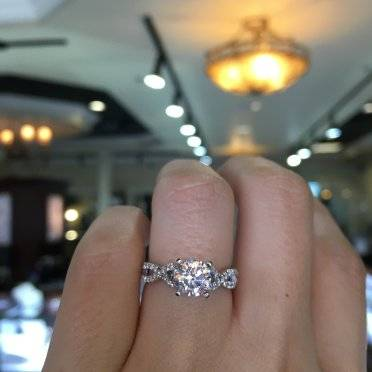 Vintage wedding rings new york - Infinity Band Engagement Ring Gabriel And Co