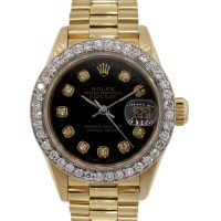 Rolex 69178 Datejust Gold Diamond Ladies Presidential Watch