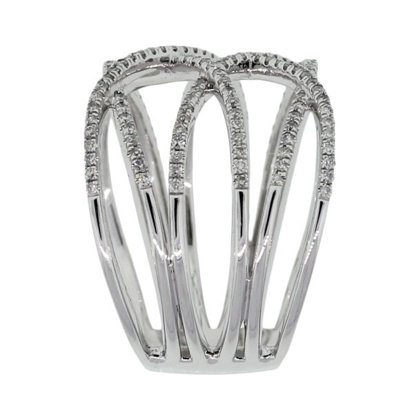 White Gold Crossover Ring