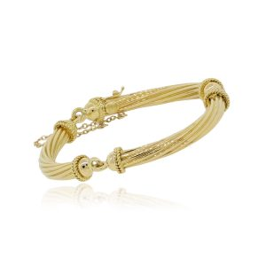 18k Yellow Gold Cable Bracelet