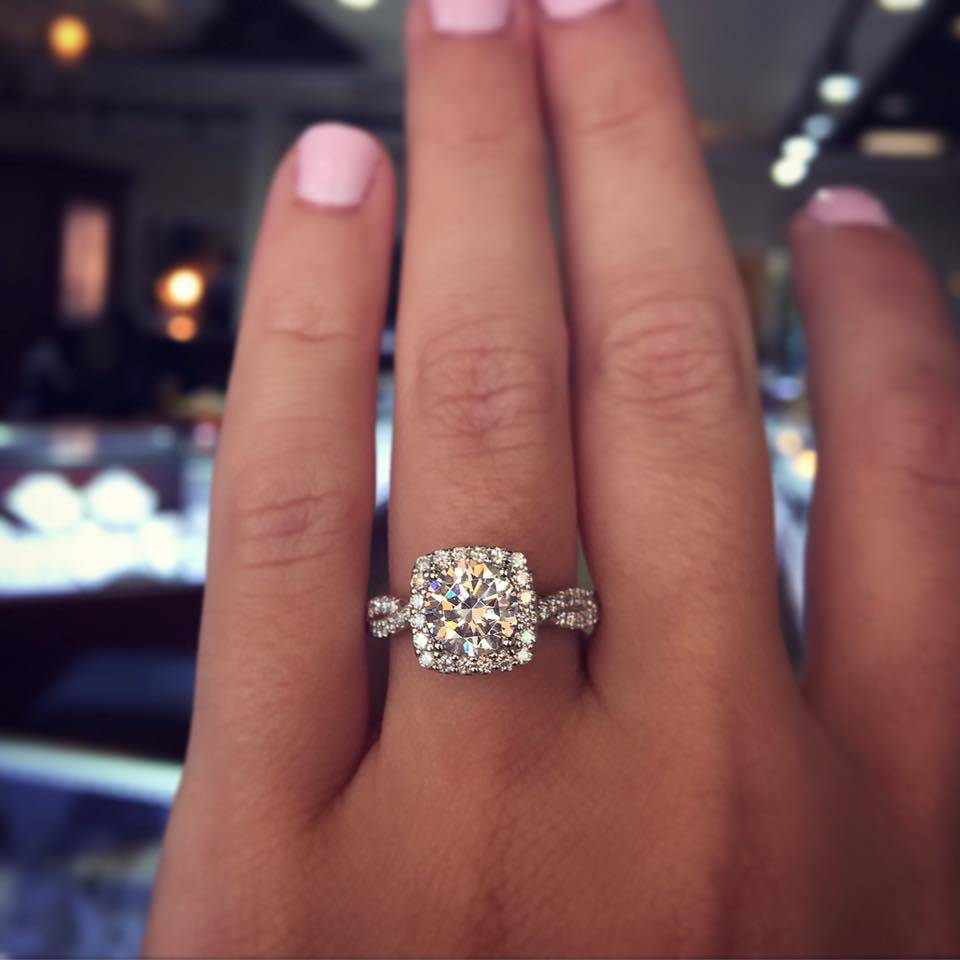 Verragio Halo with Lace SHank