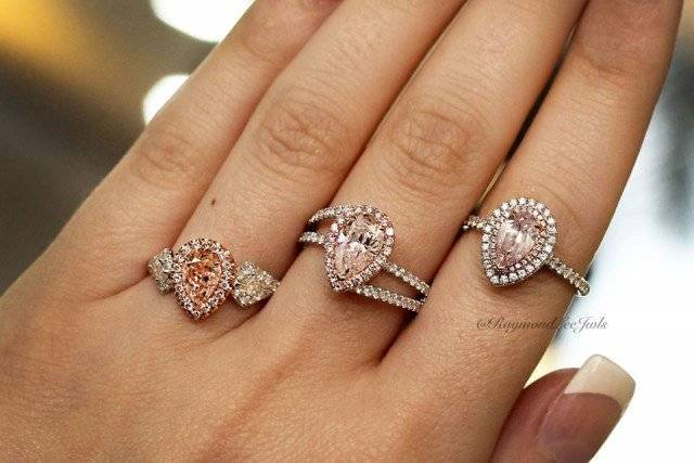 Fancy pink pear shaped engagement rings!
