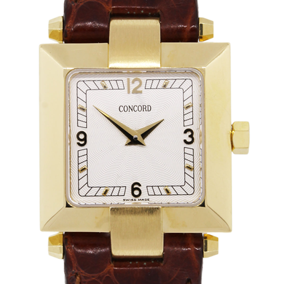 Concord La Scala 14k Yellow Gold Square Face Ladies Watch