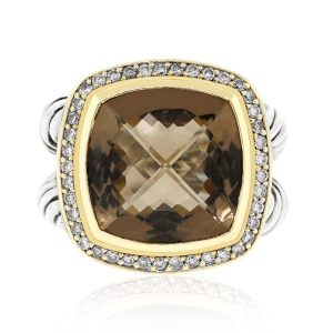 david yurman smokey quartz rings