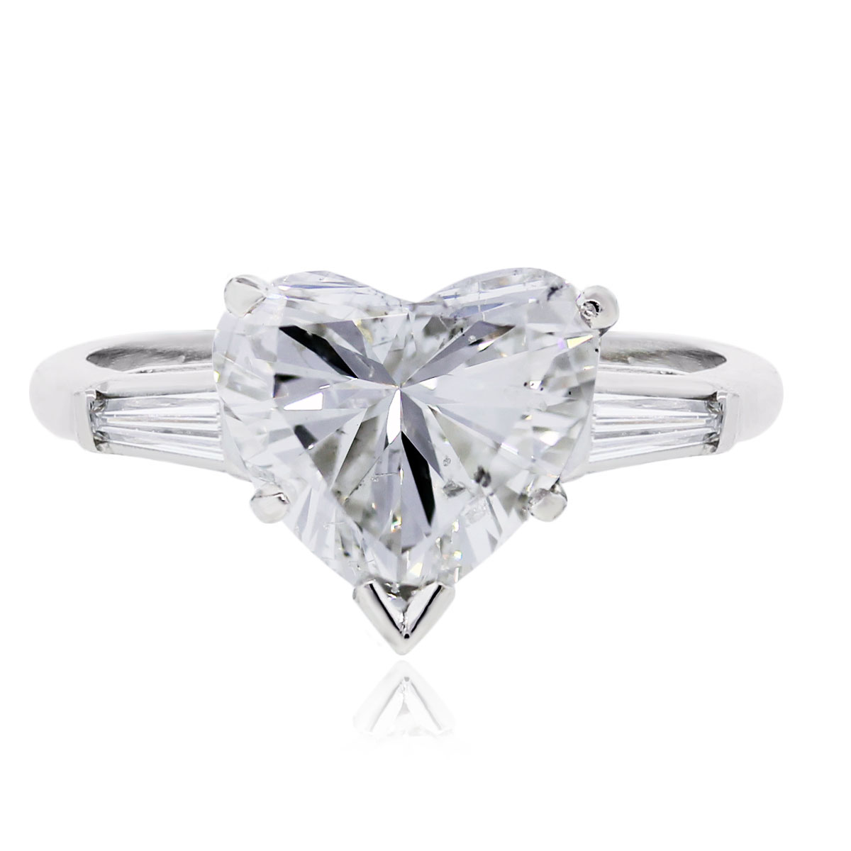 Platinum Heart Shape Diamond Engagement Ring