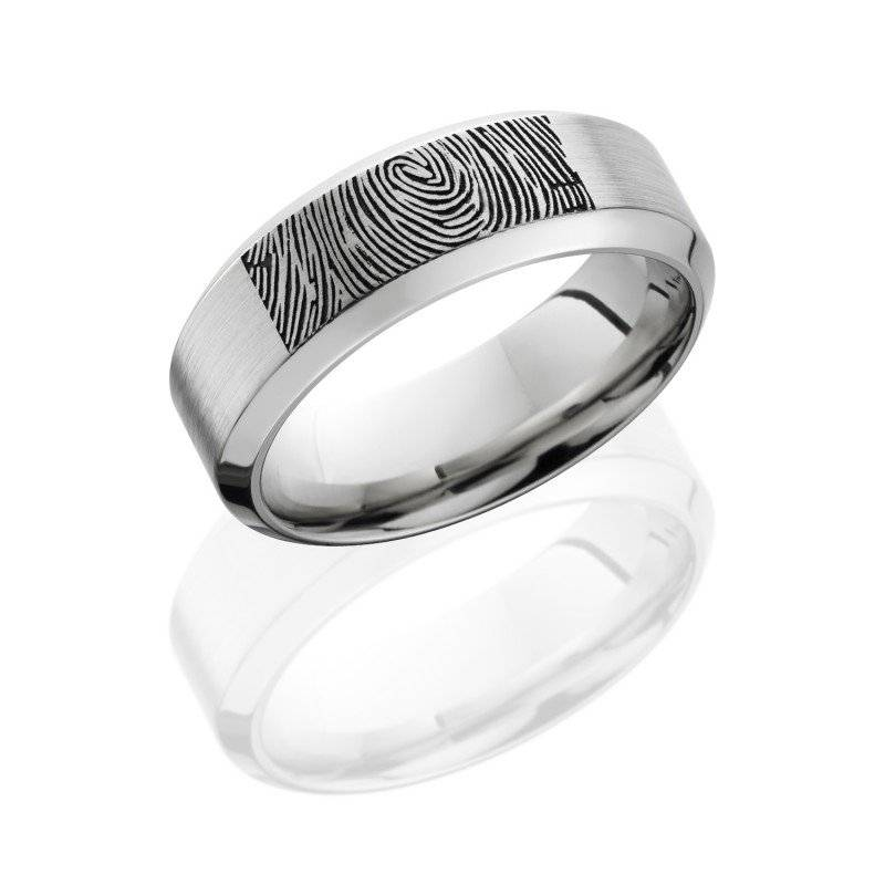 Finger print wedding ring - with your wife's finger print engraved!