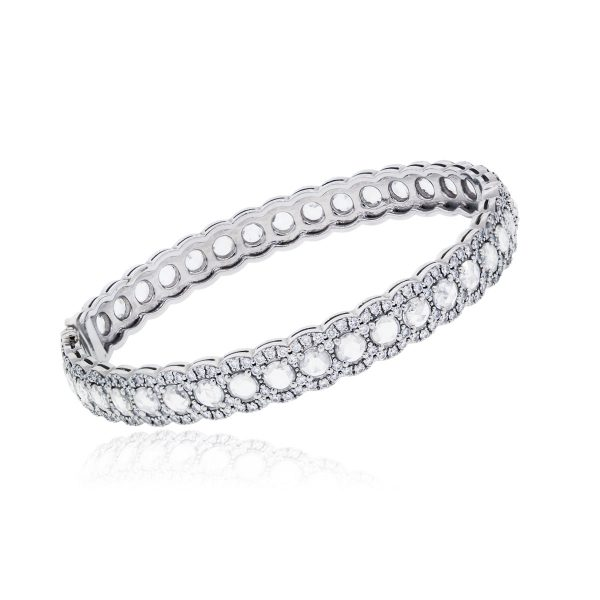 5c3ea83135be Tiffany   Co. Rings Platinum Diamond Cobblestone Bangle 4.27ctw