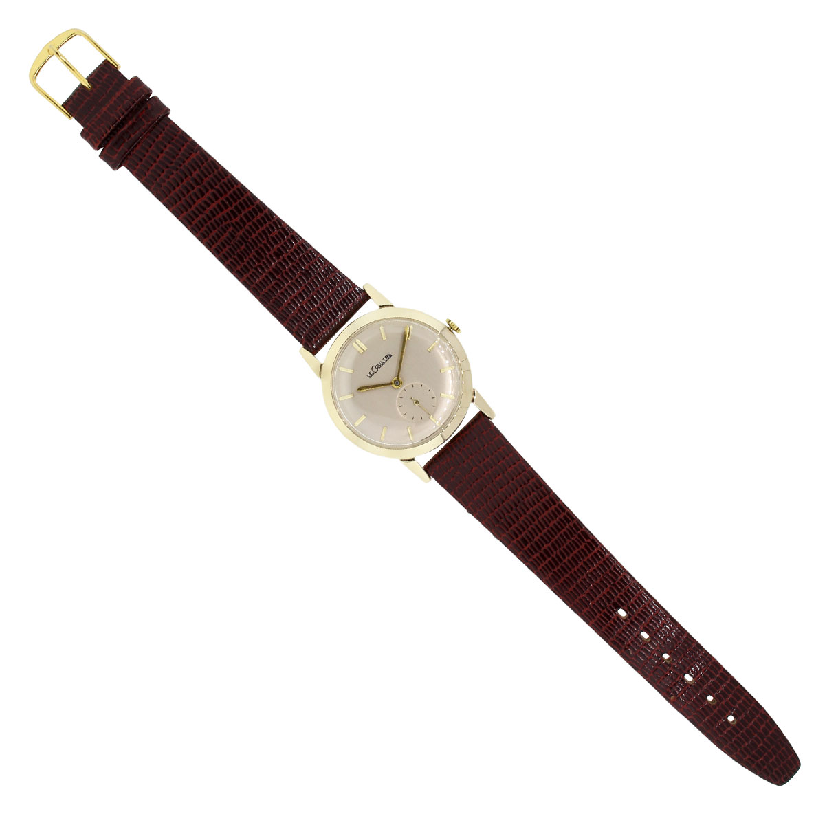 LeCoultre 14k Leather Strap Watch