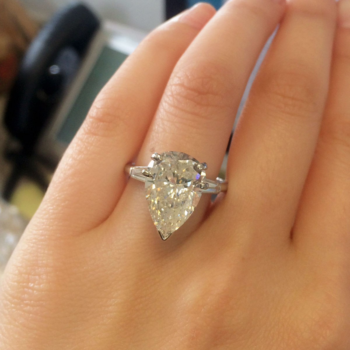 Pear Shape Diamond Engagement Ring Zoom + Start Slideshowstop  Slideshow