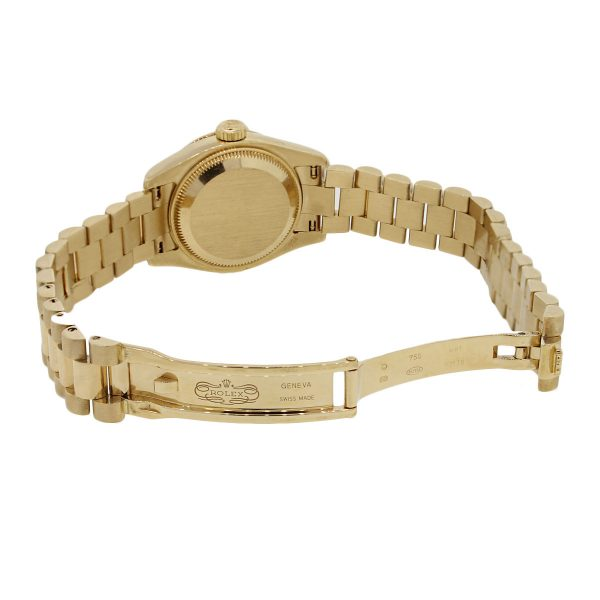 Gold Diamond Dial Ladies Watch