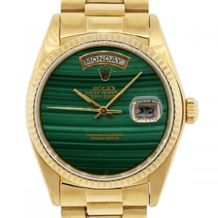 Rolex 18038 Day-Date Malachite Dial Presidential Watch