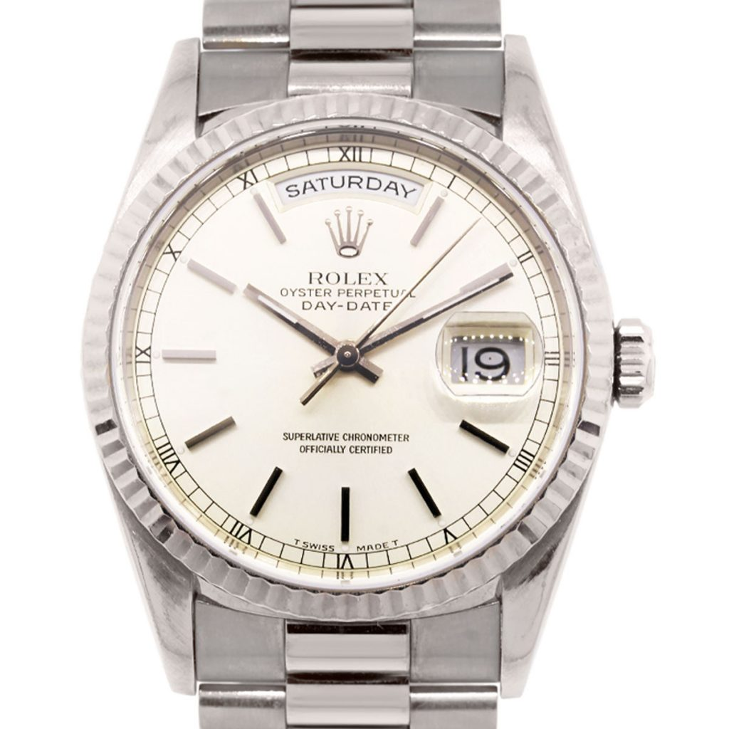 Rolex 18239 Day Date 18k White Gold Presidential Watch