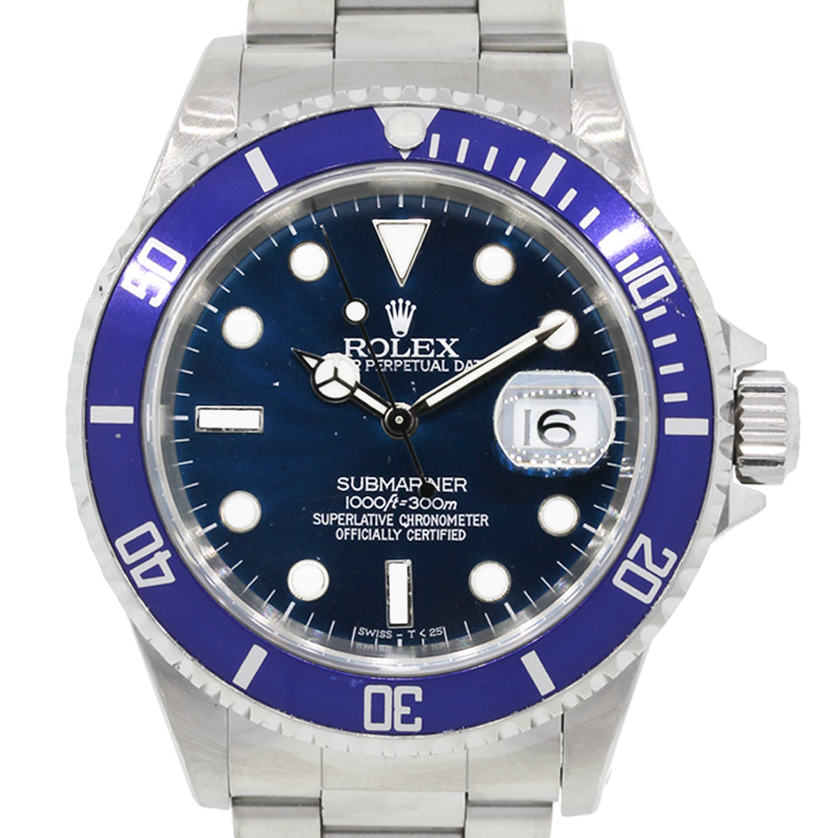Rolex 16610 Submariner Blue Bezel Blue Dial Watch