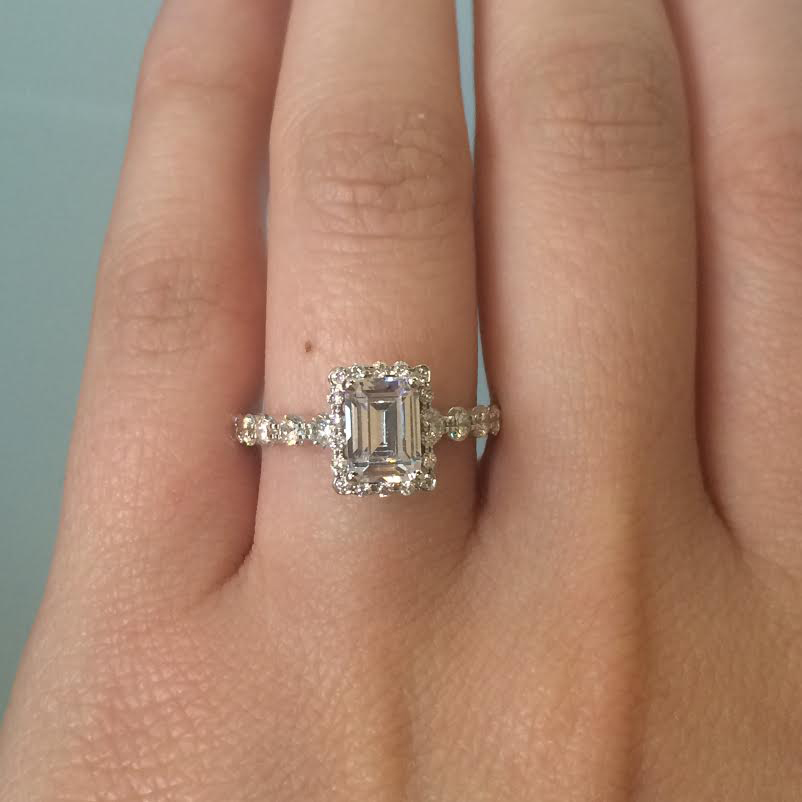 Simon G. solitaire engagement ring