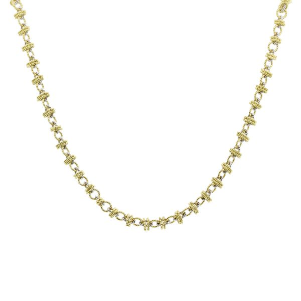 18k Two Tone Gold necklace