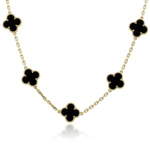 Van Cleef & Arpels Black Onyx MOtif necklace