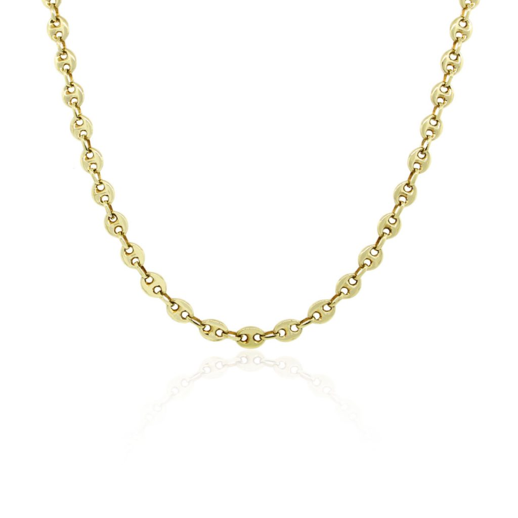 14k Yellow Gold Gucci Link Chain Necklace