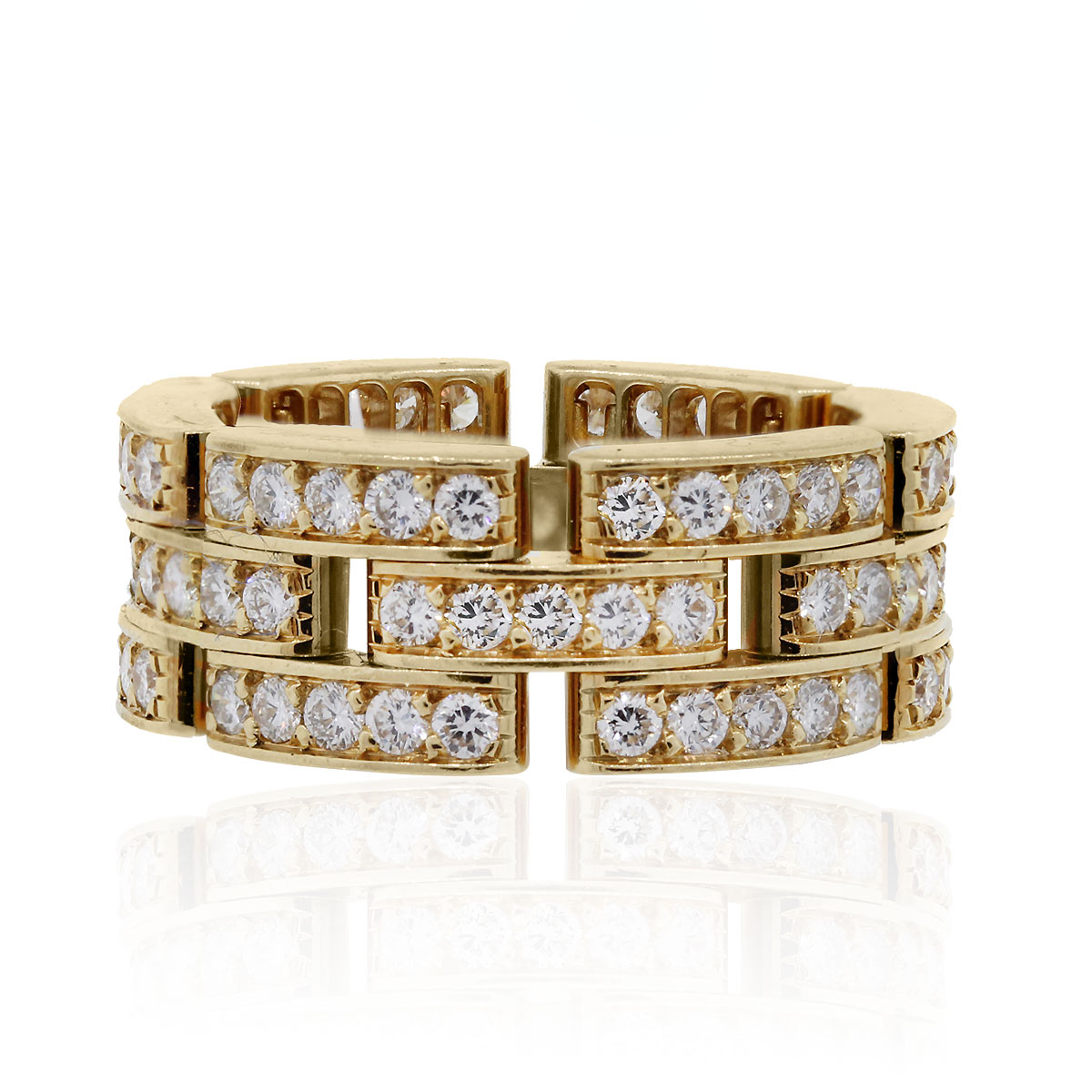 Cartier Panthere 18k Yellow Gold 1 37ctw Diamond Ring
