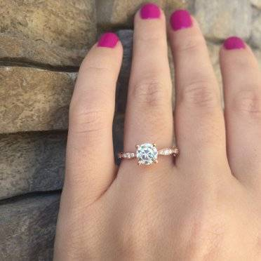 Rose Gold Engagement Rings Tacori