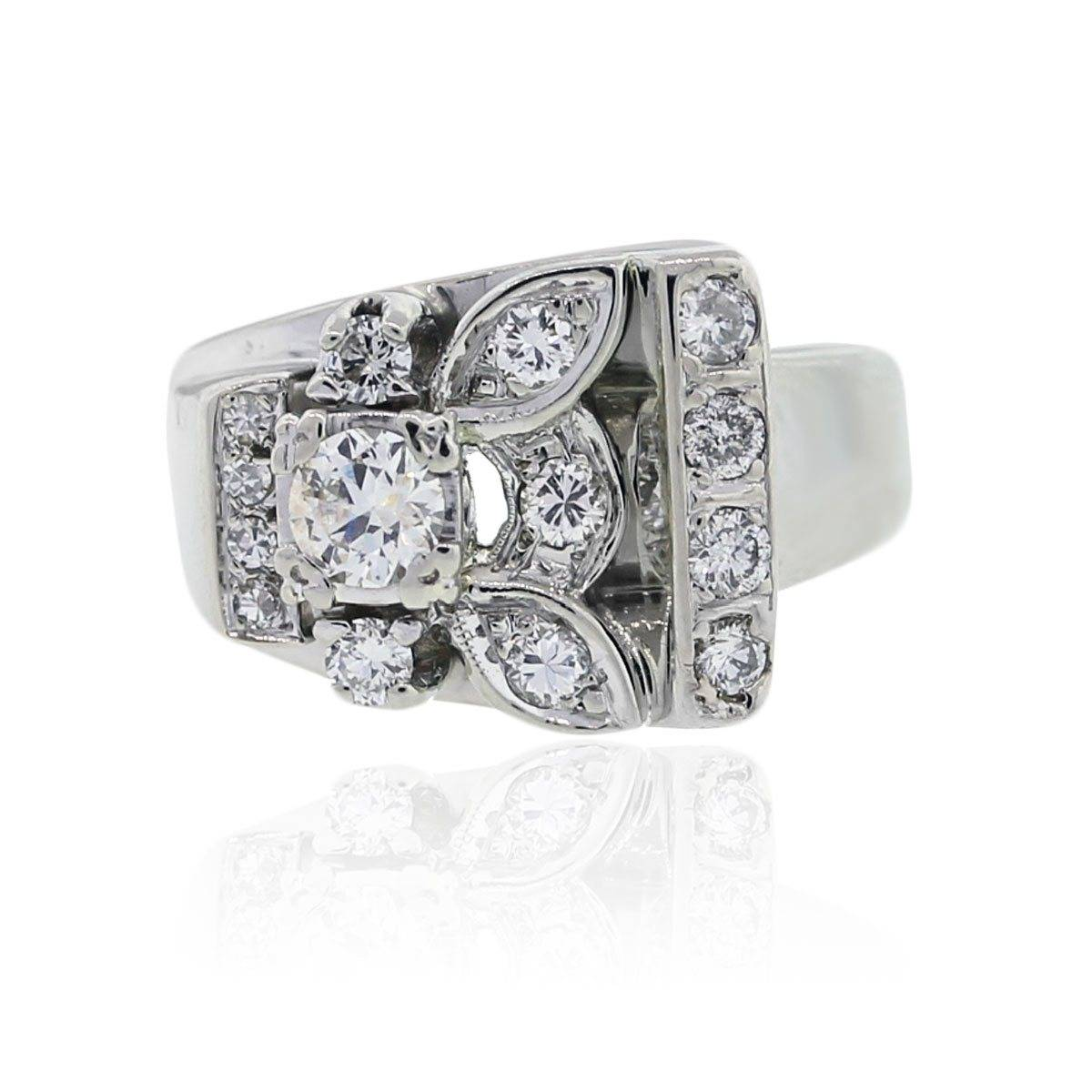 This funky vintage diamond ring is a beautiful example of estate jewelry
