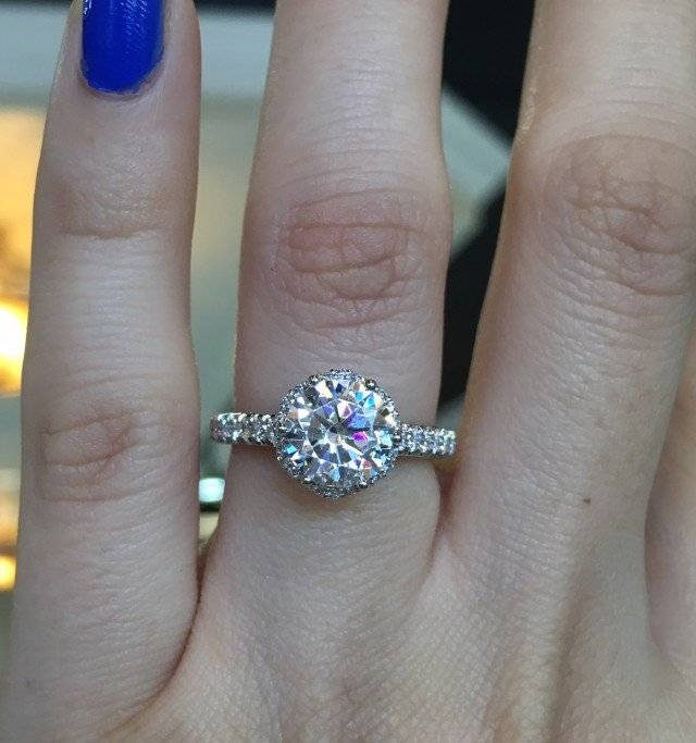 Double Halo Engagement Ring Tacky