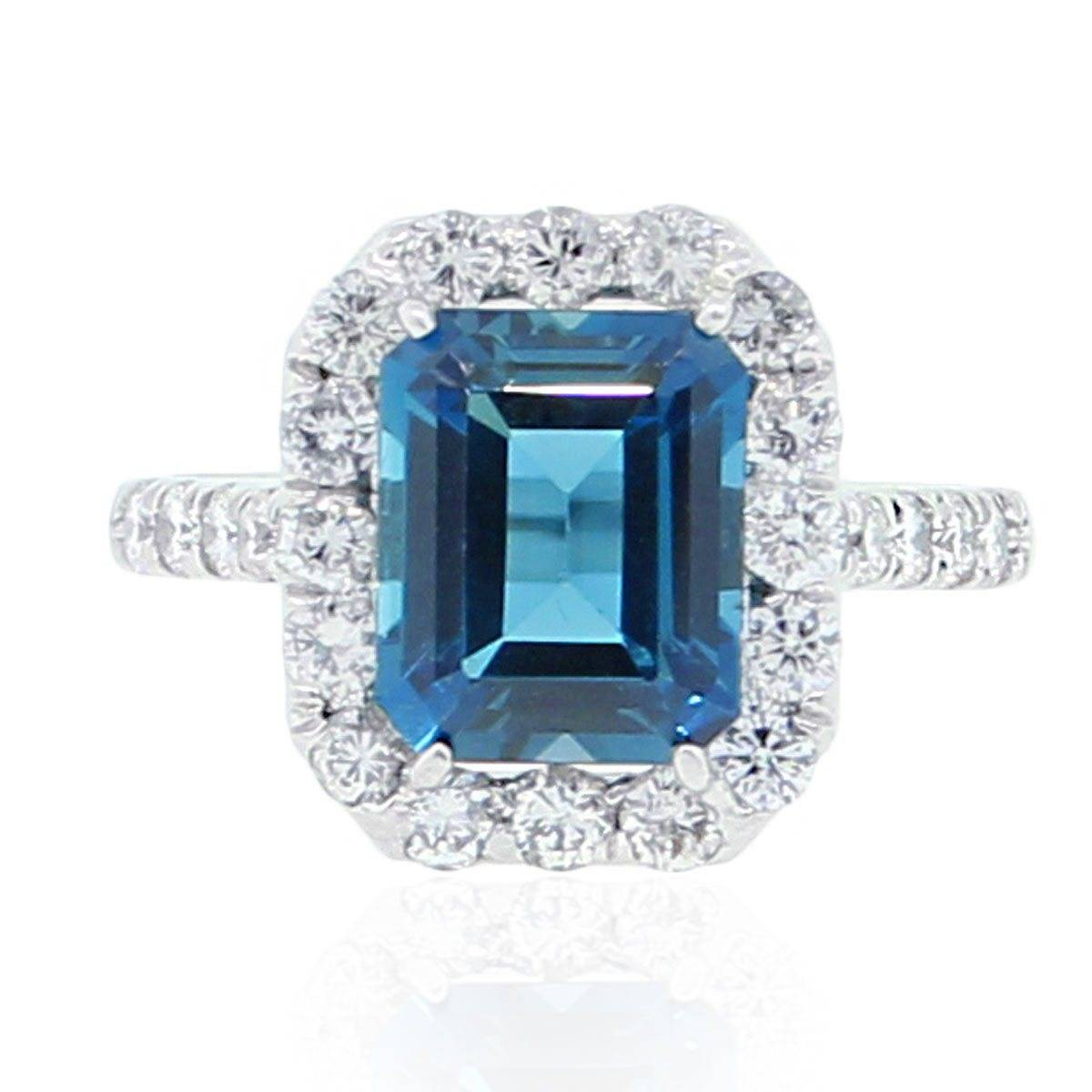 Blue halo ring