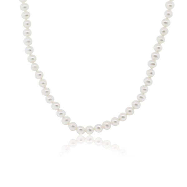 14k Yellow Gold 5.5mm Pearl Strand Necklace