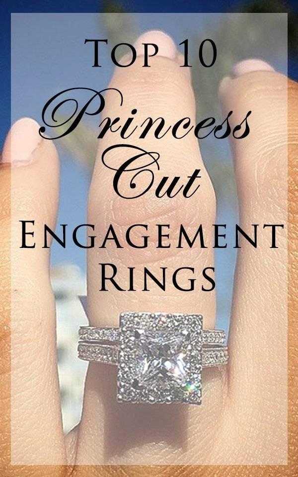 The most beautiful princess cut engagement rings you'll lay eyes on <3