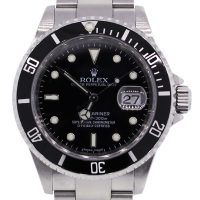 Rolex 16610 Stainless Steel Black Dial Watch