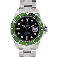 Rolex 16610LV Submariner Green Bezel Black Dial Watch