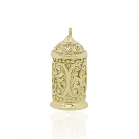 18k Yellow Gold Beer Glass Charm