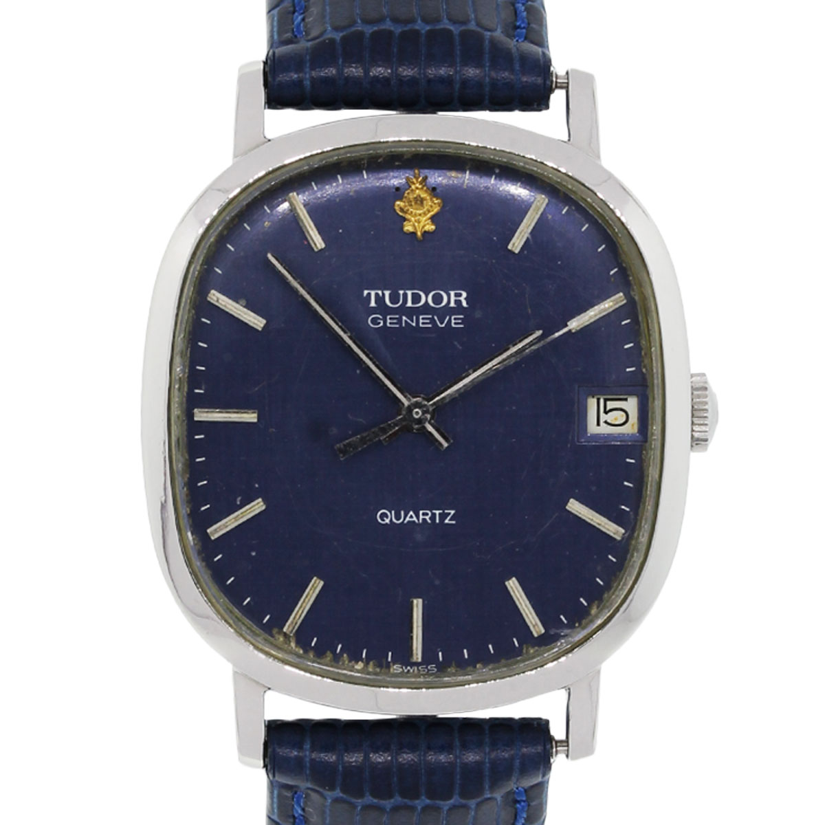 Tudor geneve blue dial quartz vintage watch for Tudor geneve watches