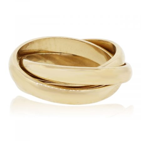 14k Yellow Gold Smooth Rolling Ring