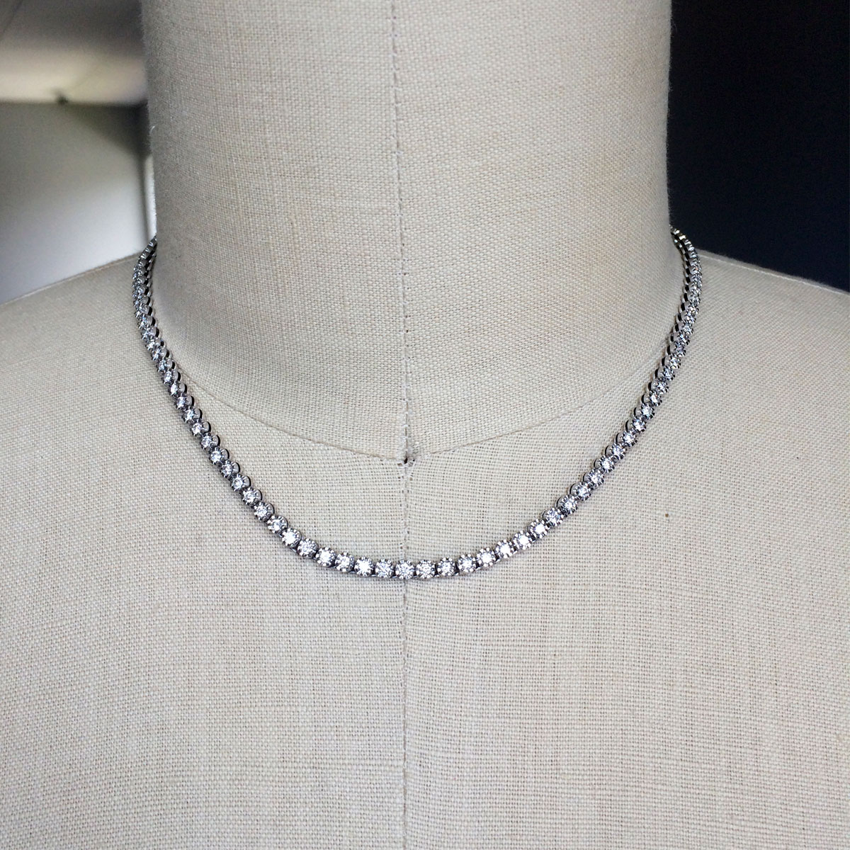 Diamond Necklace With Gold