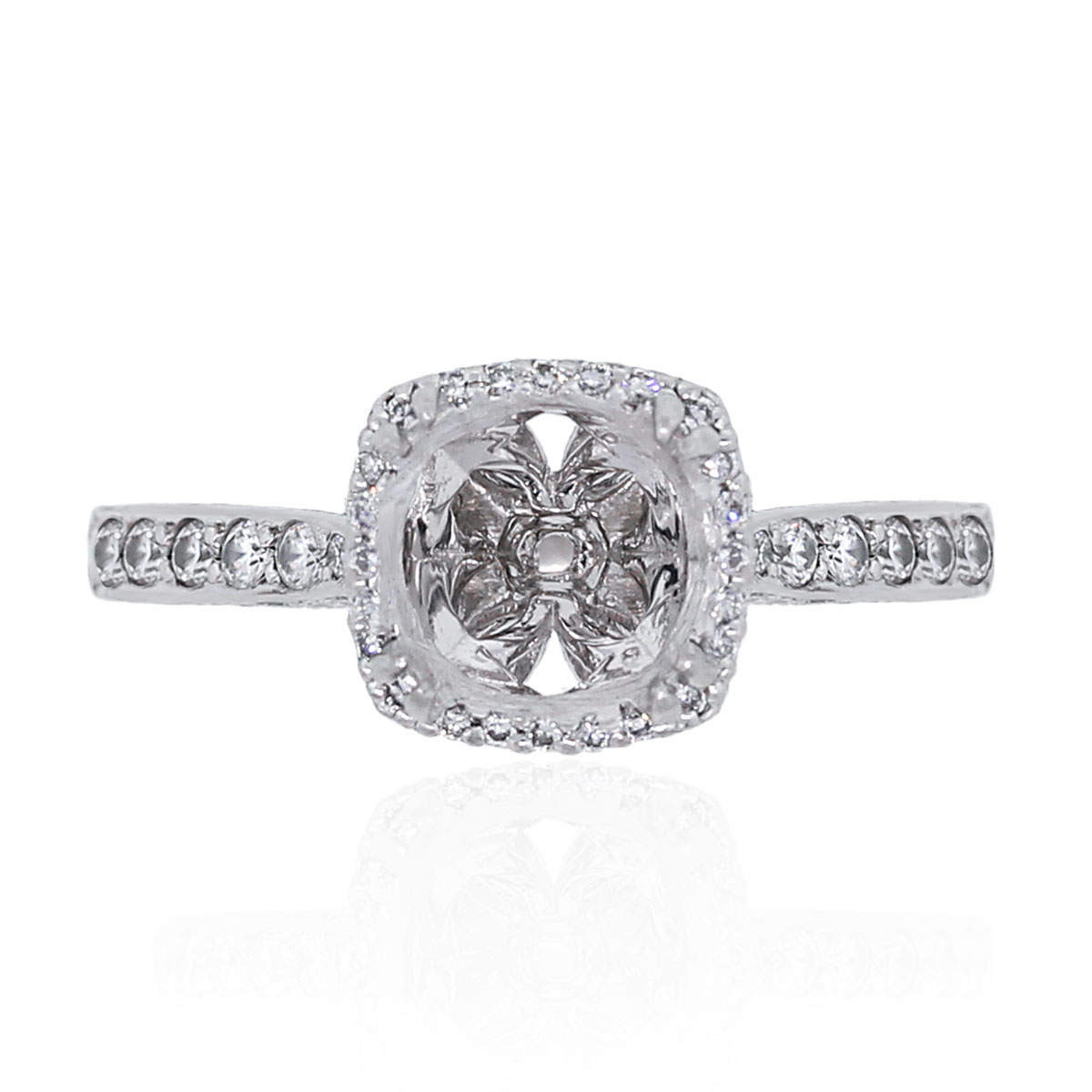 Tacori Engagement Rings Platinum Dantella 0 37ctw Ring Mounting