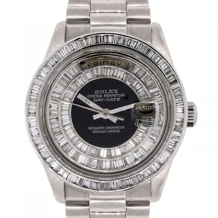 Rolex 18039 Day Date White Gold Diamond Dial Watch