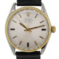 Rolex 5501 Oyster Perpetual Air-king Gold Tone/Sterling Silver Watch