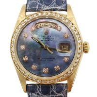 Rolex 1803 Day-Date 18k Yellow Gold Mother Of Pearl Diamond Dial Presidential Watch