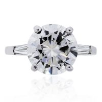 Platinum 6.42ct Diamond GIA Certified Engagement Ring