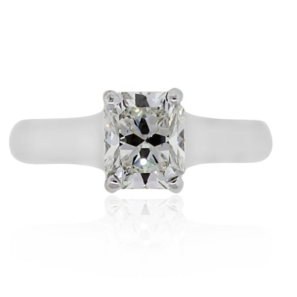 a79a58dfd Platinum 1.35ct GIA Certified Lucida Diamond Ring. product_image