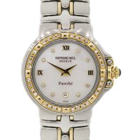 Raymond Weil Parsifal 9990 MOP Diamond Dial Two Tone Watch