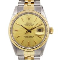 Rolex 16013 Datejust Champagne Dial Two Tone Watch
