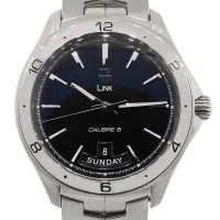 Tag Heuer WAT2010 Day Date Stainless Steel Link Calibre 5 Men's Watch