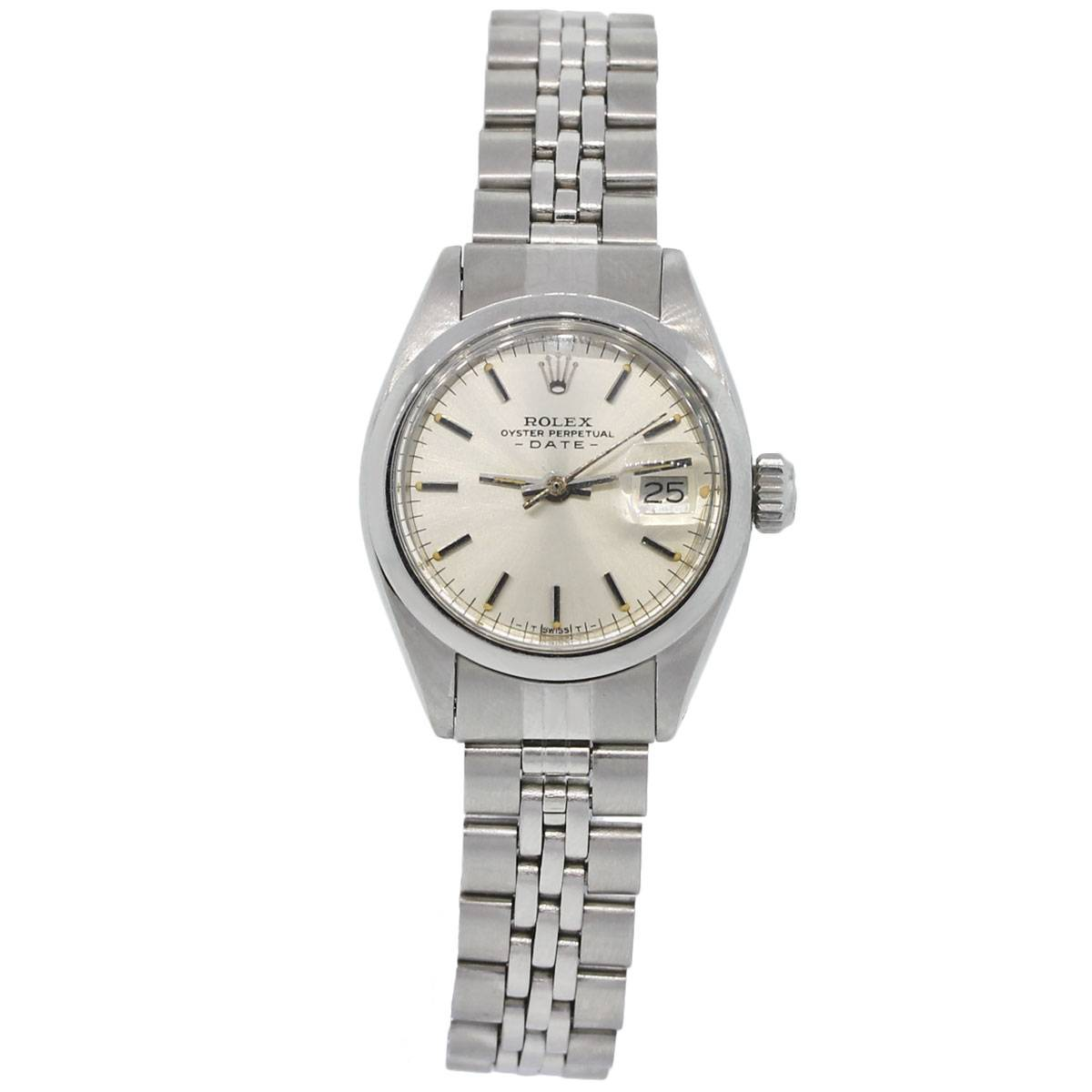 Rolex 6916 date stainless steel jubilee bracelet ladies watch for Jubilee watch