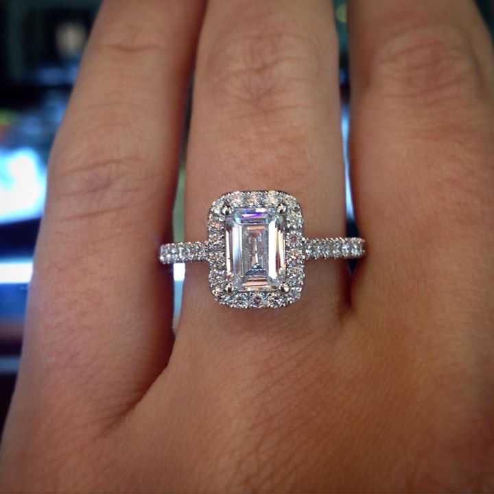 Emerald Cut Engagement Ring Eye Candy Raymond Lee Jewelers