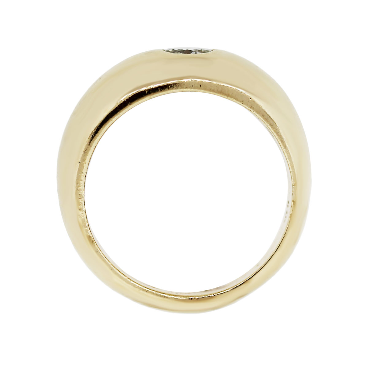 14k yellow gold 0 35ct solitaire gents ring