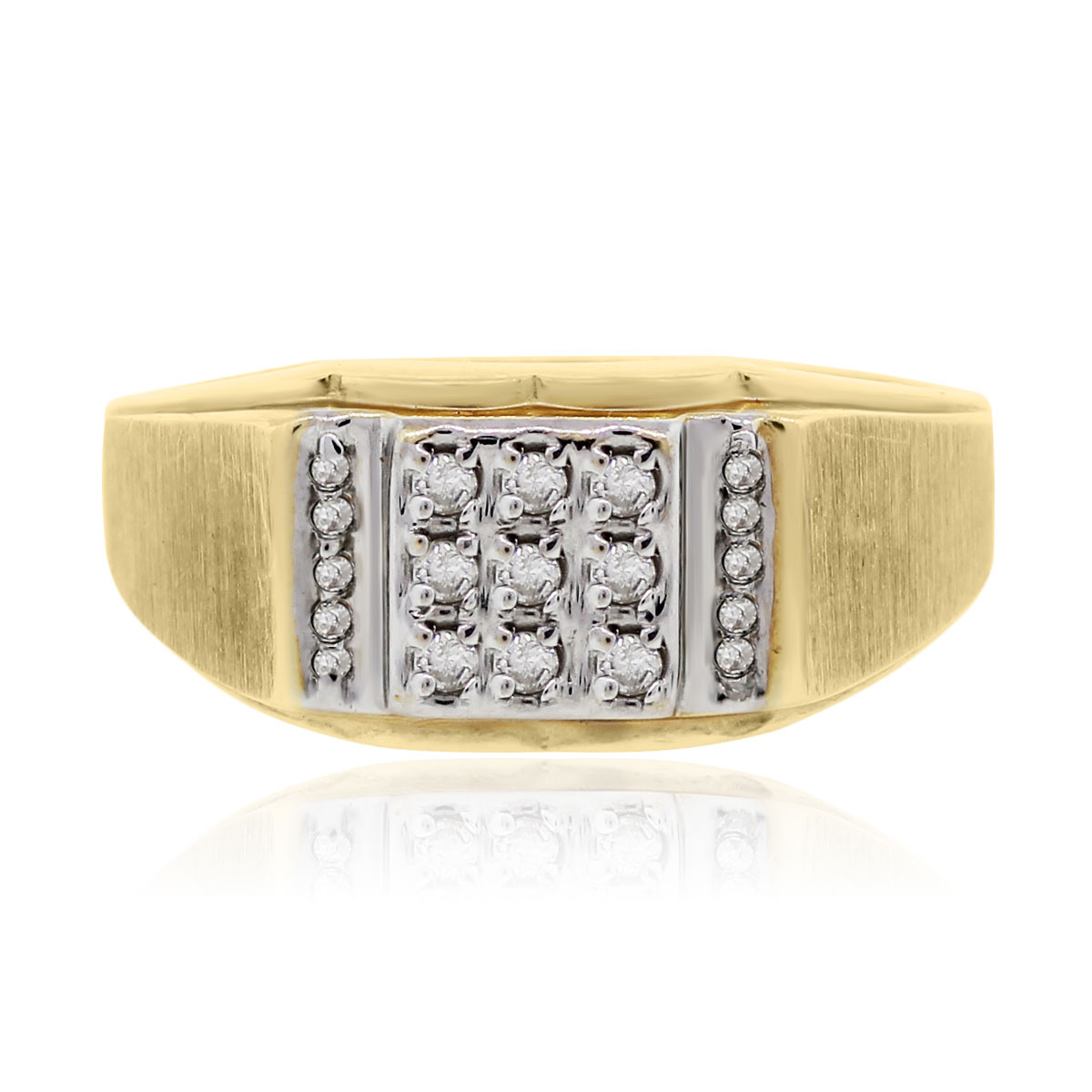 14k yellow gold 0 15ctw gents ring
