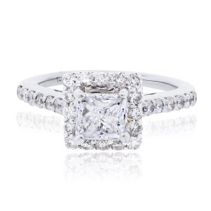 14k White Gold 2.06ctw GIA Certified Diamond Engagement Ring