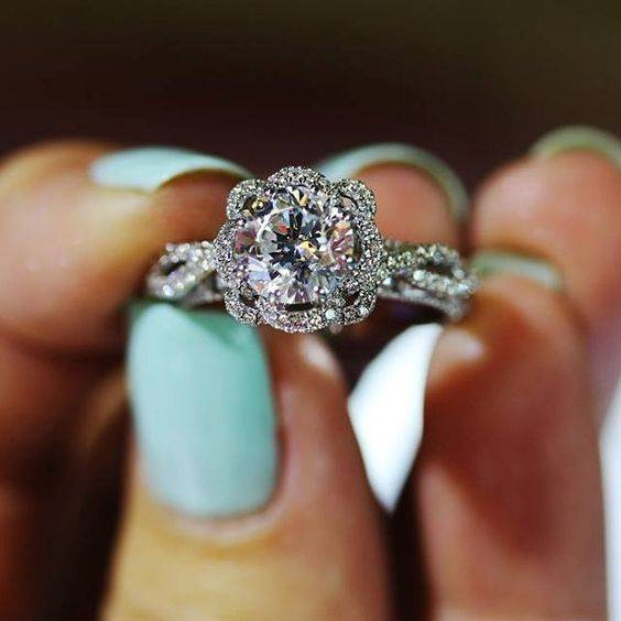 Etonnant Most Popular Engagement Ring On Pinterest